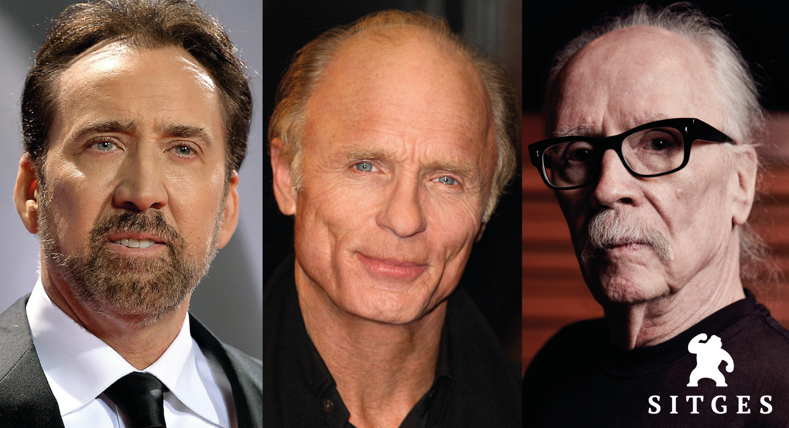Nicolas Cage and Ed Harris will receive the Grand Honorary Award at a Sitges Festival hitting its high point with a concert by John Carpenter