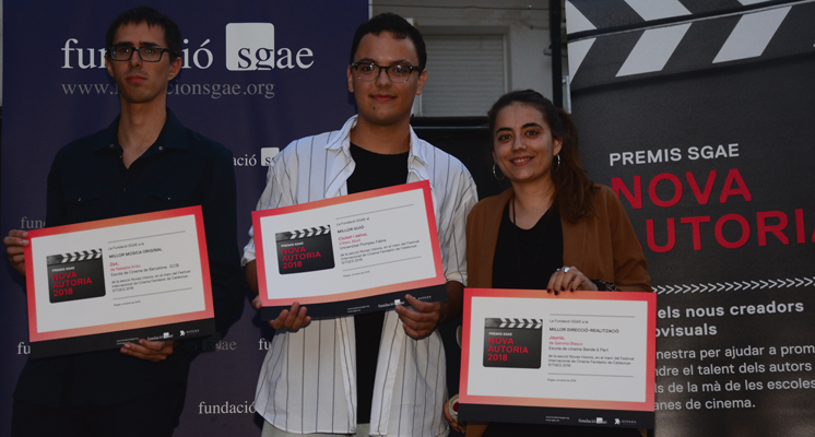 Young creators from Bande à Part, the UPF and ECIB pick up the 2018 SGAE Nueva Autoría Awards